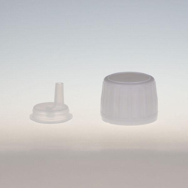 VISTOP weiss für Glas mit Tropfmontur für wässrige Lösung