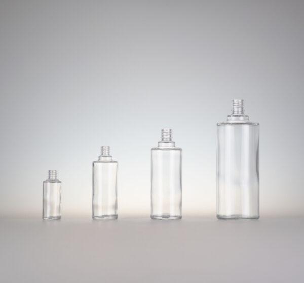 Flasche Ronde farbloses Glas