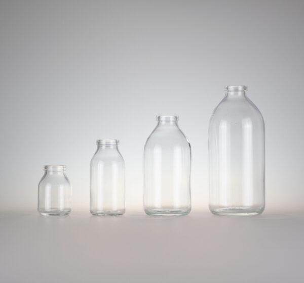 Infusionsflasche H-glas klar