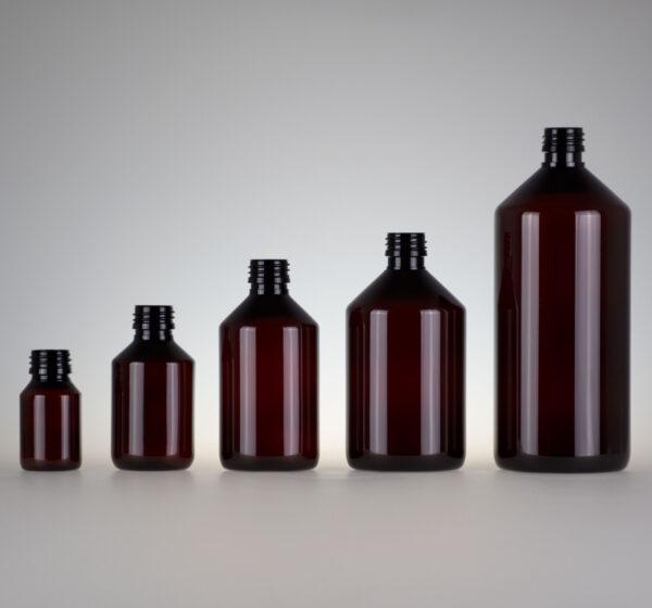 Medizinflasche PET braun
