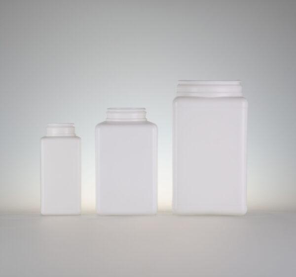 Pharmadose 4-eckig PE-PP weiss