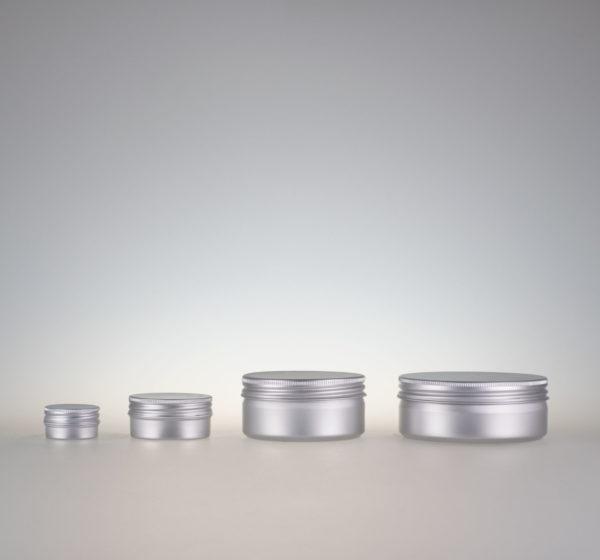 Aludose natur silber Schraubdeckel Dosen aus Alu Silber